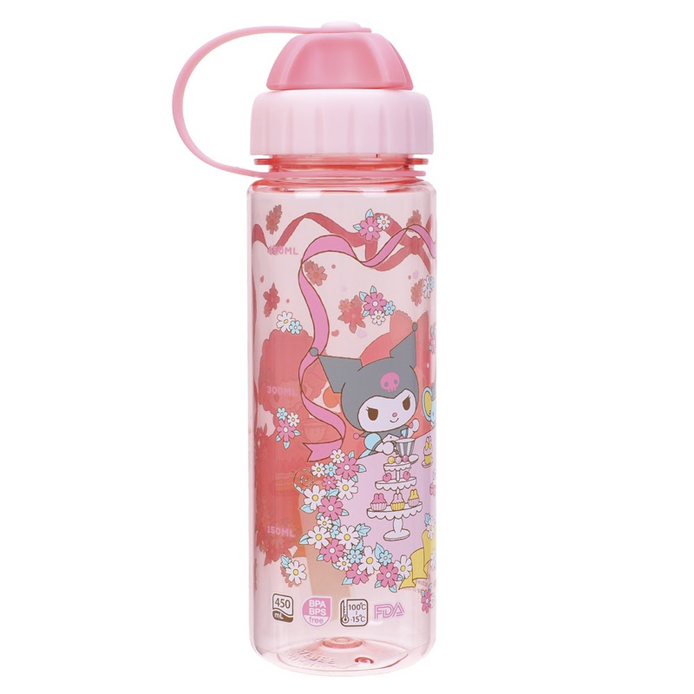My Melody 450ml Water Bottle w/ 2 Openings Lid 雙開口設計膠水樽