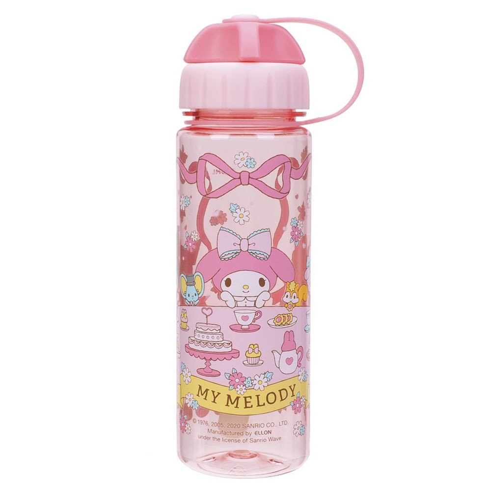 My Melody 450ml Water Bottle w/ 2 Openings Lid 雙開口設計膠水樽(5天內發貨)