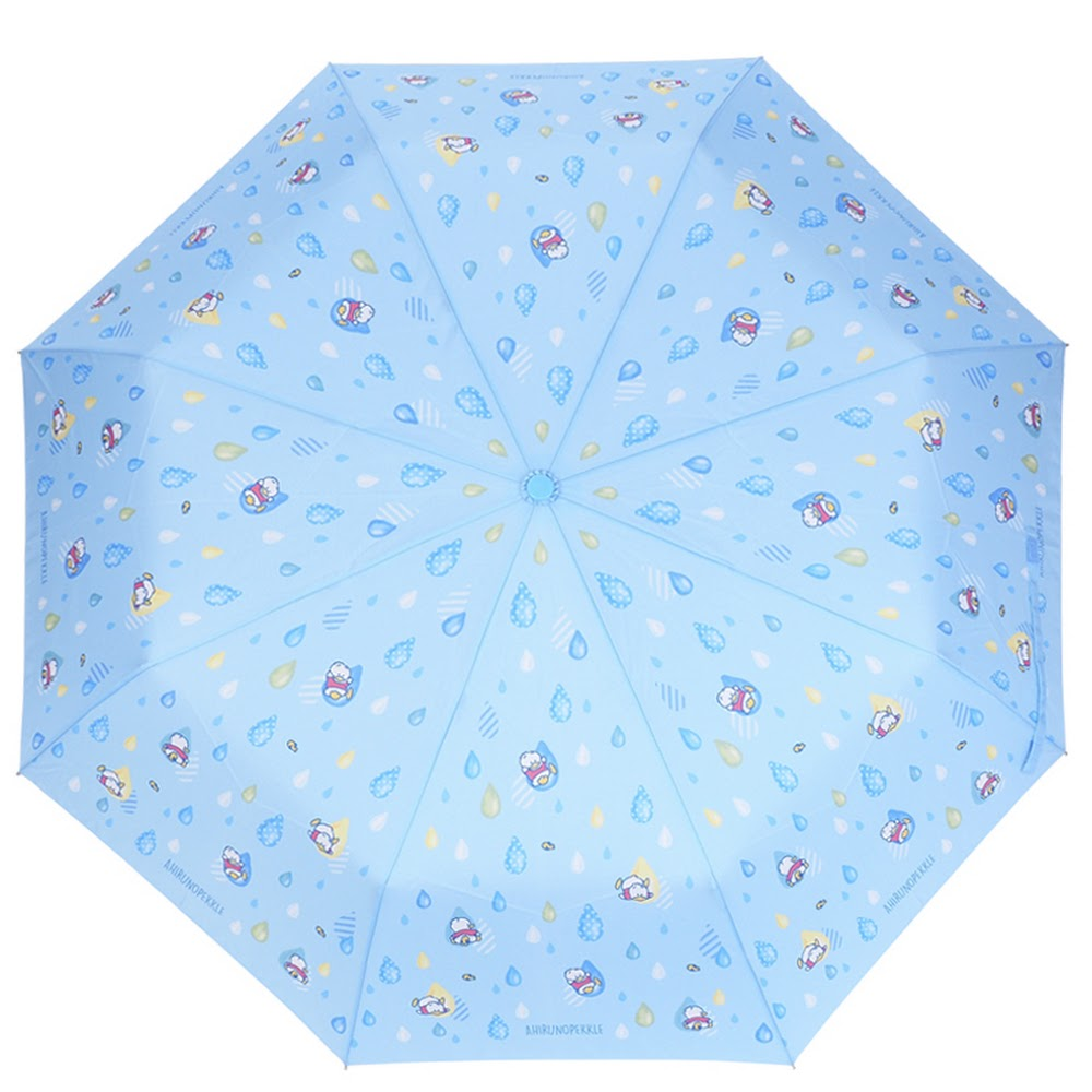 Ahiru No Pekkle 3-Fold Hand-Open Umbrella 三節縮骨超輕雨傘(55CM x 8 Ribs)(5天內發貨)