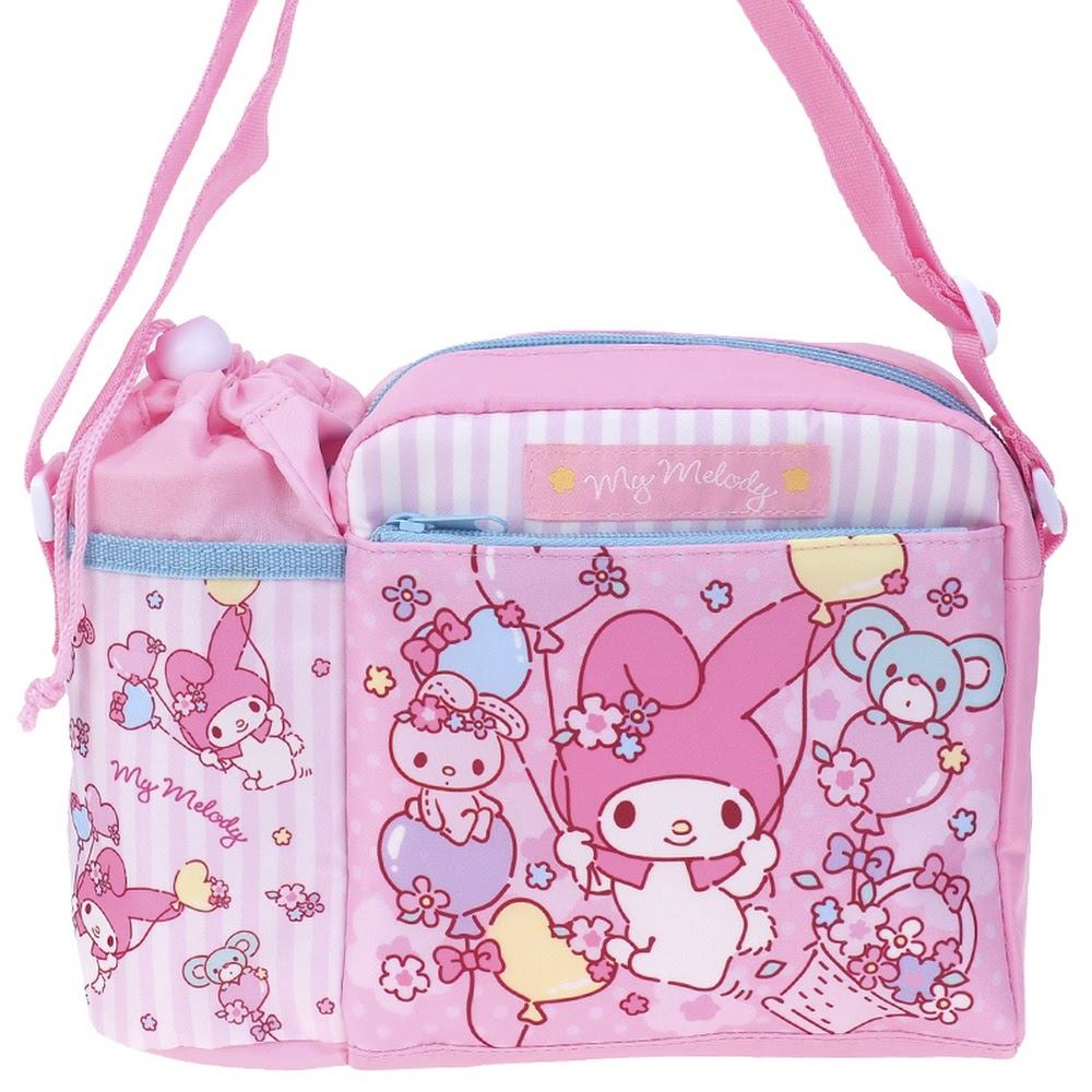 My Melody Kid's Shoulder Bag with Bottle Bag 小童斜揹袋(連水樽格)(5天內發貨)